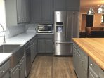 3 4 large refrigerators onsite with mini units in most rooms.  Huge icemaker!