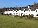 Crinan Canal Cottage No8 with playing green in front