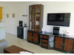 Livingroom with TV, Blu-Ray/DVD Player and HiFi Stereo