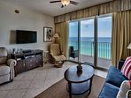 Majestic Sun 1004B - Living Room With Gulf Front Views