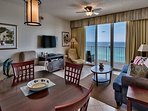 Majestic Sun 1004B - Living/Dining With Gulf views