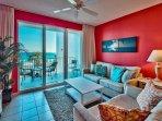 Majestic Sun 203B - Living Room With Gulf Views
