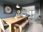Dining room with bespoke oak table