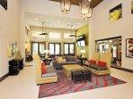 Leasing office lounge area