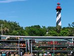 St. Augustine Lighthouse and Museum 5 miles north of St. Augustine Ocean and Racquet on A1A.