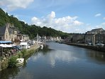 The Rance down at the port in the amazing medieval town of Dinan, 20 mins away