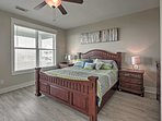 Enjoy uninterrupted nights of sleep on the plush, king-sized mattress in the master bedroom.