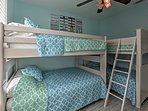 The bunk room offers sleeping for 6 additional guests.