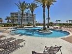 Splash around in the expansive resort pool!