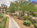 Relish in the community's manicured and groomed gardens that surround the property.