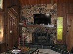 Fireplace, Hearth, LCD Screen, Screen