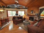 Living Room, Sweet Whimsical Beautifully Renovated Cabin Unit 7 Lot 132 Pine Mountain Lake Vacation Rental The Wolffs...