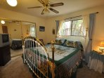 Guest bedroom, upper/main level, Queen. Unit 7 Lot 132 Pine Mountain Lake Vacation Rental The Wolffs Den