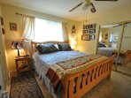 Master bedroom, upper/main level, King. Unit 7 Lot 132 Pine Mountain Lake Vacation Rental The Wolffs Den