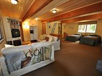 Downstairs game room, 2 Twins, accessed from separate entry only, Unit 7 Lot 132 Pine Mountain Lake Vacation Rental The...
