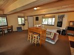 Downstairs game room, accessed from separate entry only, Unit 7 Lot 132 Pine Mountain Lake Vacation Rental The Wolffs...