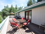 Back deck. Pine Mountain Lake Vacation Rental, Unit 4 Lot 67 The Buck Stops Here