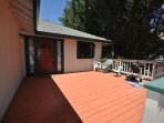 Front deck. Pine Mountain Lake Vacation Rental, Unit 4 Lot 67 The Buck Stops Here