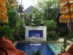 Relax in style at Angel House. The Pool, cold, clean and clear. 1.6 metre deep with with wide steps.