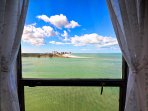 Panoramic view of Sand Key Beach from the master bedroom