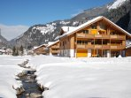 Our chalet in the ski season