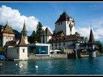 Oberhofen Castle on Lake Thun