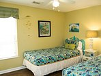 Sea Turtle bedroom with 2 twin beds