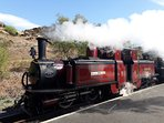 Steam Train at Tanygrisiau.