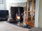 Enjoy the log burner after a stroll to Estuary