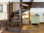 New oak staircase to bedrooms