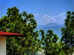 Backdrop Views of peaks of Trisul, Nandadevi from our cottage