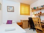 Bedroom with double bed on the ground floor