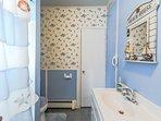 Bathroom offers tub/shower combination