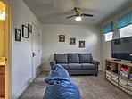Find additional lounge space in the loft upstairs with a pullout queen-bed sofa, 50-inch flat screen cable TV and an...