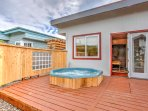 This hot tub is the perfect place to relax at the end of a long day.