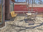 Early risers will look forward to sipping their morning coffee outside on the private deck.