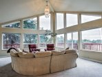 Natural light brightens this Great Room, creating an inviting environment.