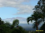 Mauna Kea observatories visible from Hale Manu.  ( often snow capped during winter months!)