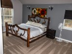 Master bedroom, King, Made from AK black spruce trees.