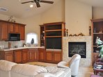 Fireplace,Hearth,Entertainment Center,Microwave,Oven