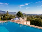 Swimming pool and sea views