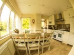 The well fitted  Breakfast/Kitchen offers a dishwasher, washing machine, fridge-freezer & microwave.