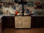 cosy kitchen Aga