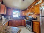 Recently remodeled kitchen with granite countertops!