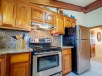 Everything you need is here in this kitchen to prepare a meal for your group!