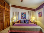 A straight on view of your king bed!