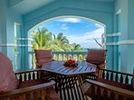 Eat your meals here on your beautiful balcony and enjoy the stunning vistas and ocean breeze!