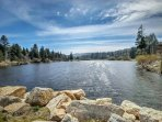 Enjoy beautiful Lake Arrowhead, Grass Valley Lake and Lake Gregory just a few miles away.