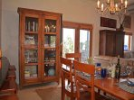 Dining area with walk out to portal for outdoor dining and priceless panoramic valley views and sunsets....