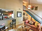 Enjoy evenings spent relaxing in the living room while watching one of your favorite television series on the flat...